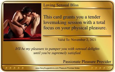 Sample Sexy Gold Card Love Message
